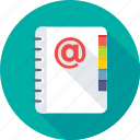 address book, contacts, diary, phone directory icon