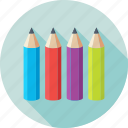 color pencils, colors, pencils, stationery, stationery holder icon