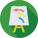 art, artboard, artwork, easel board, flipchart icon