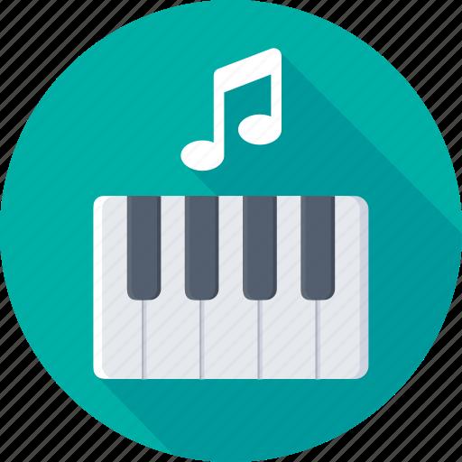 digital keyboard, electric keyboard, electric piano, piano, piano keyboard icon