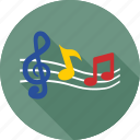 eighth note, music, music note, note, quaver icon