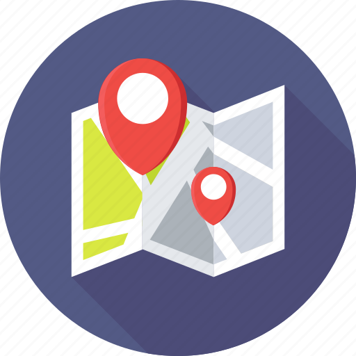 location marker, location pin, map, map locator, map pin icon
