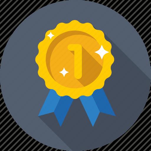 award ribbon, medal, prize, reward ribbon, ribbon badge icon