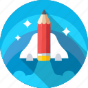 launch, missile, rocket, spacecraft, spaceship icon