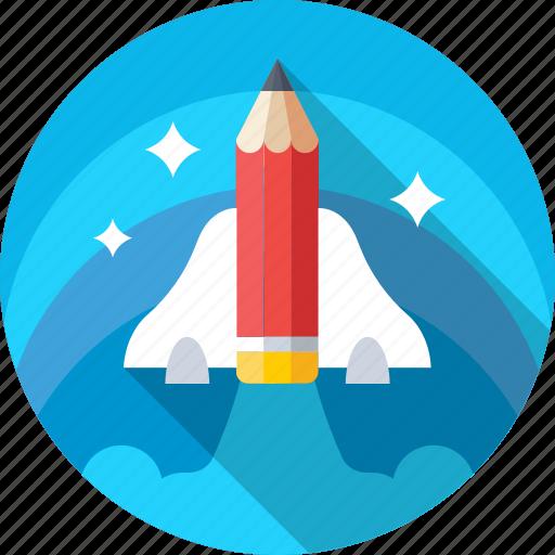 Launch, missile, rocket, spacecraft, spaceship icon - Download on Iconfinder
