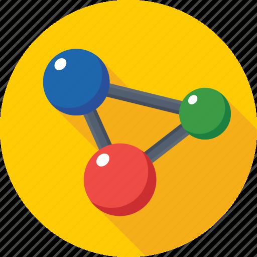 atom, atom bond, molecular, molecule, proton icon