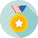 achievement, award, reward, star, star medal