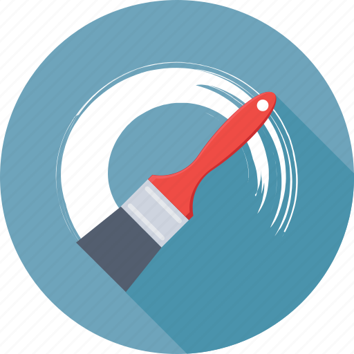 brush, color brush, paint tools, painting, painting brush icon