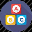 abc block, alphabet blocks, basic english, early education, kindergarten