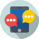 chat balloon, chat bubble, mobile chat, speech balloon, speech bubble icon