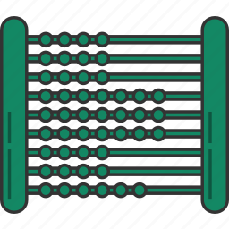 abacus, abacus toy icon