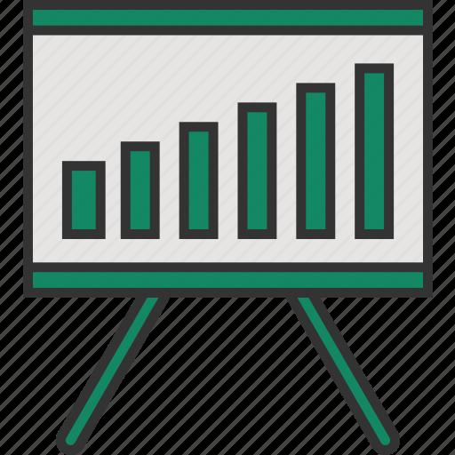 analytics, presentation, presentation board, statistics, stats icon