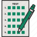 exam, multiple choice, test icon