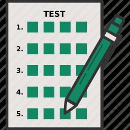 exam, multiple choice, test icon