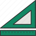 degree tool, measure, ruler and degree, ruler triangle, ruler triangle scale, ruler triangle tool, triangle ruler icon