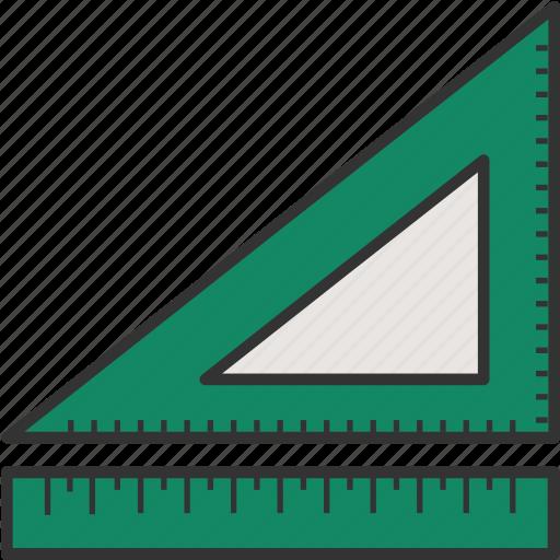 degree tool, measure, ruler and degree, ruler triangle, ruler triangle scale, ruler triangle tool, triangle ruler icon