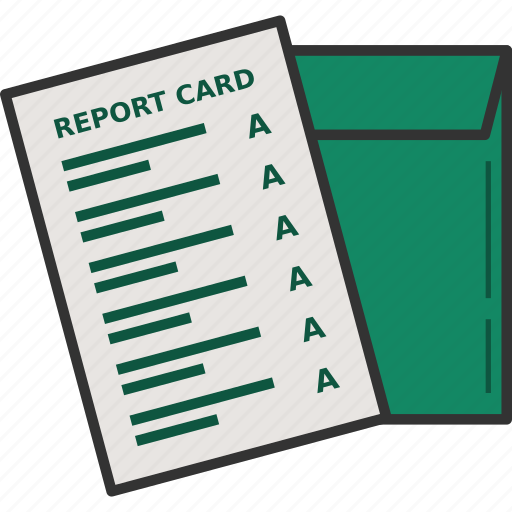 grade, grades, graduation, graduation card, report card icon