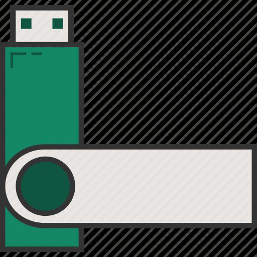 flash drive, memory stick, pen drive, usb, usb drive, usb stick icon
