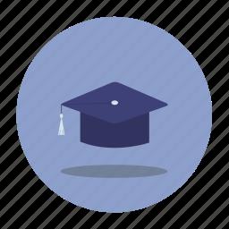 graduation, hat, school, uni icon
