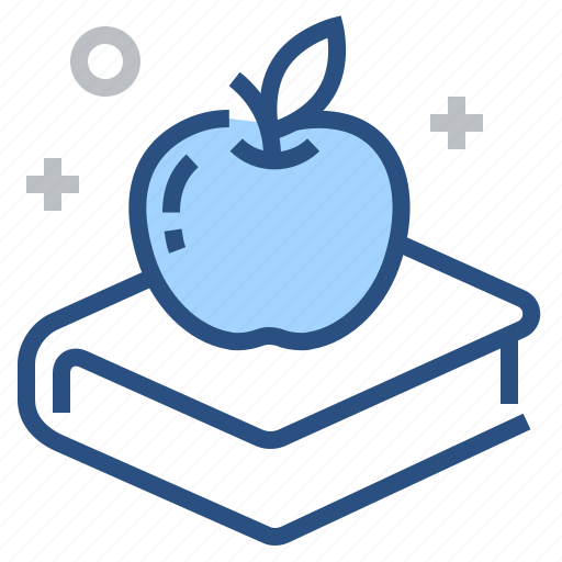 apple, book, education, knowledge, learning, reading, study icon