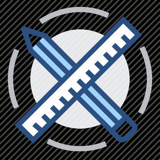 design, engineering, pen, pencil, ruler, tools icon