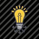education, idea, lamp, share