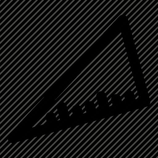 geometry, measure, measurement, set square, set-square, triangle icon