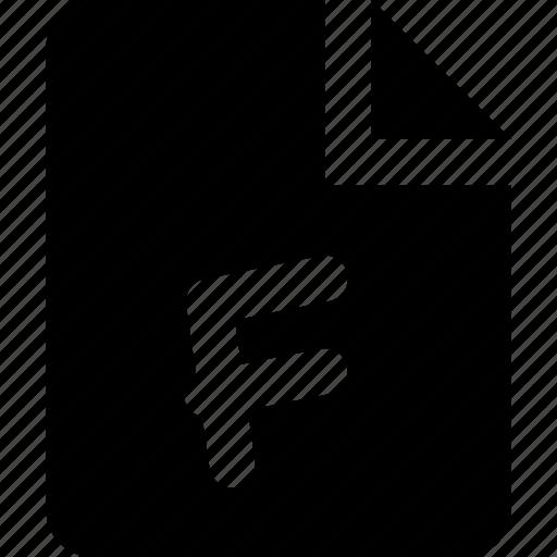 f, grade icon