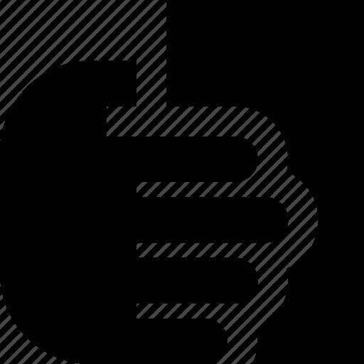 hand, paper icon