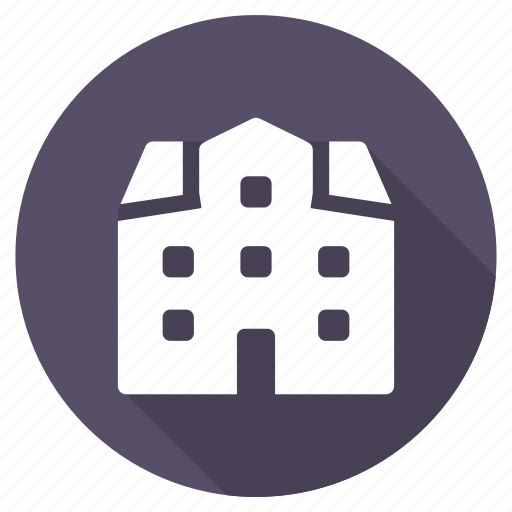 building, education, home, hotel, house, property, school icon