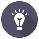 creative, education, idea, lamp, light, school, smart icon