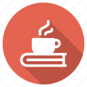 beverage, book, coffee, cup, drink, education, tea icon