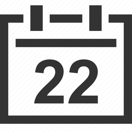 appointment, calendar, date, due, event, twenty, two icon