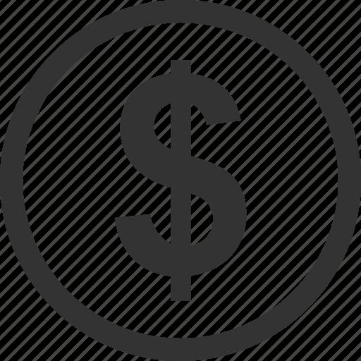 buy, circle, coin, dollar, money, now, sign icon