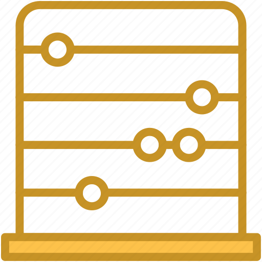 abacus, calculating machine, calculation, counting frame, maths icon