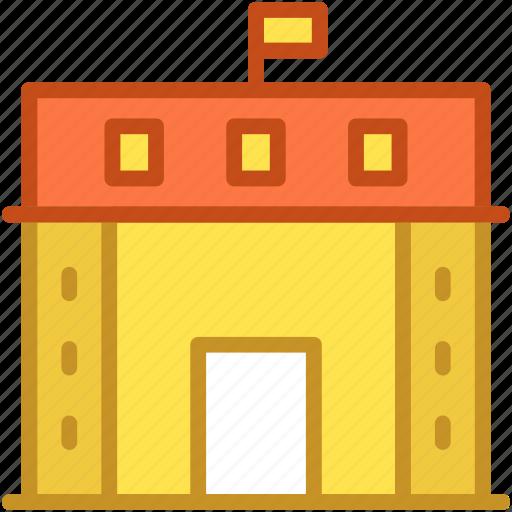 academy, building, real estate, school, school building icon