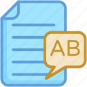 document, english, file, sheet, text sheet icon