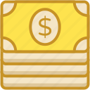 banknote, dollar, finance, money, paper money icon