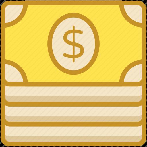 banknote, dollar, finance, money, paper money icon