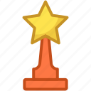 award, reward, star trophy, trophy, winner