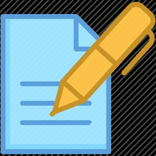 article, paper, pen, signature, writing icon