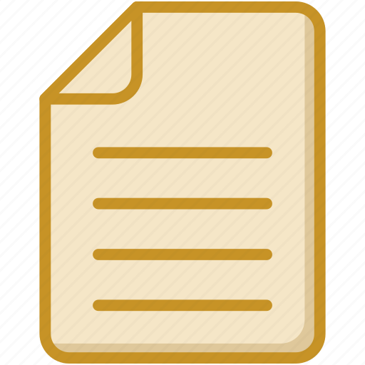 document, file, letter, sheet, text document icon