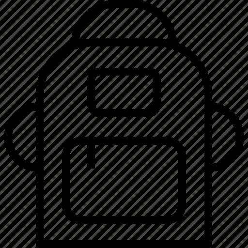 bag, camping, zipper icon