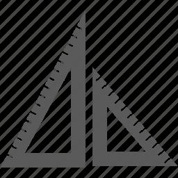 math, protractor, set square icon