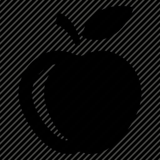 apple, diet, education, fruit, healthy, learning, school icon