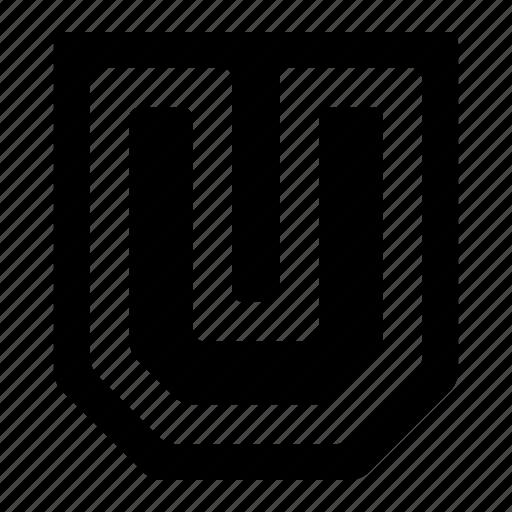 college, education, learning, letter, school, u, university icon
