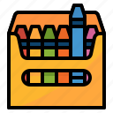 art, crayon, draw, education, write icon
