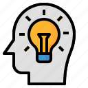 brain, education, idea, strategy, think icon