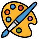 art, interface, paint, painting, palette, tool icon