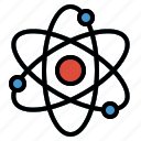atom, education, electron, nuclear, physics, science icon